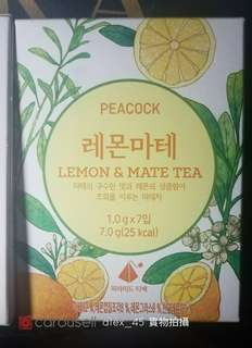 韓國直送 孔雀 peacock lemon & mate tea