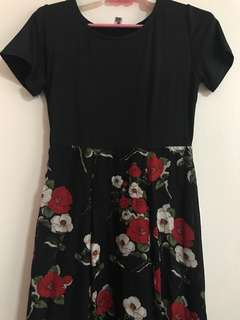 Casual Chick Black Flora Dress