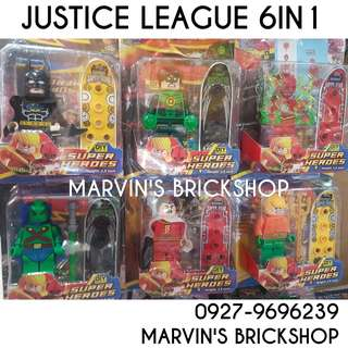 Justice League 6in1 set 4 inch Figure Building Block Toy