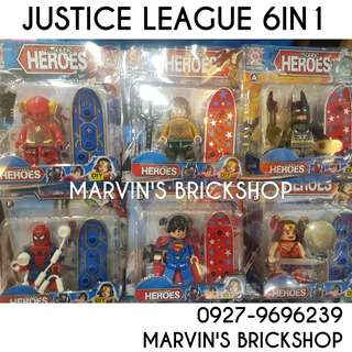 Latest Justice League 6in1 set 4 Inch Figure Building Block Toy
