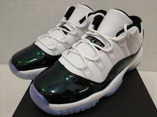 🚚 Nike AIR JORDAN 11 RETRO LOW GS BG 復活節 黑綠 女 童鞋 (布魯克林) 528896-145 現貨 5.5y
