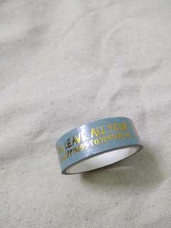 Gold foiled Washi Tape 1.5cm*5m words