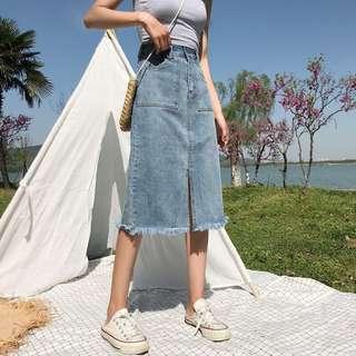Chloe Denim Midi Skirt