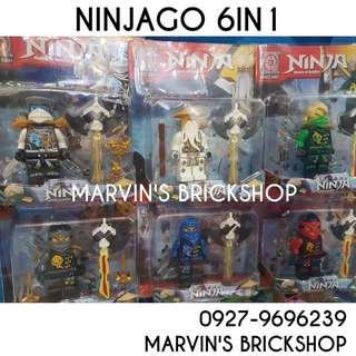 NINJAGO 6in1 set 4 Inch Figure Building Block Toy