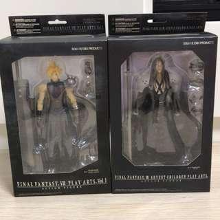 Final fantasy 7 play arts figure (Cloud Strife & Sephiroth)