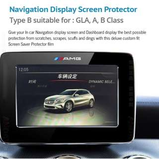 Navigation Display Screen Protector for GLA, A, B, C  Class and GLC