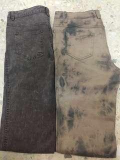 Vintage x tie dye acid washed jeans