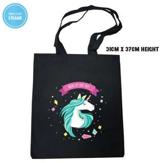 Unicorn Tote Bag - Woke up like this