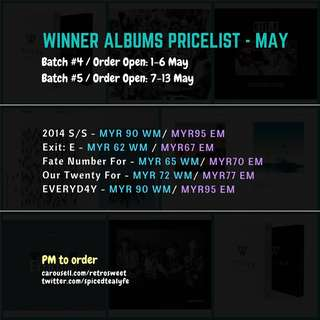 🇲🇾[MY GO] WINNER SEALED ALBUMS GROUP ORDER - MAY