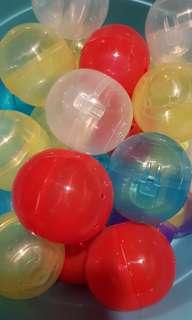 6cm double lock capsule balls