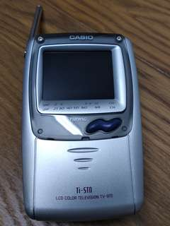 古董 收藏 CASIO Ti-STN 手提 小電視 TV-970