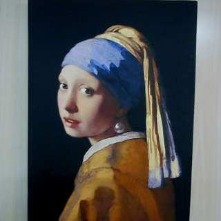 The Girl With Pearl Earring Painting Print On Canvas FreeShipping 12 x 16
