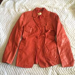 Zara Leather Jacket Size S #fashion80