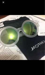 🚚 Monki 圓框 果凍透明框太陽眼鏡