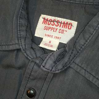 s mossimo new top button front navy blue