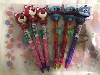 🈹Disney store lotso/stitch/燈神原子筆