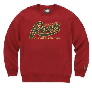 OVO October's Very Own x Roots Crewneck Red (Medium)