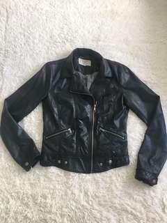 Black Zara Moto Jacket (sz M)