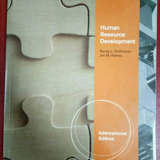(BUKU TERPAKAI) Human Resource Development (International Edition)(6th Editon)