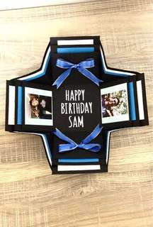 Customized Birthday Box Card