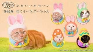 日本扭蛋貓咪頭套