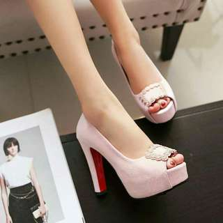 Elegant suede high heel