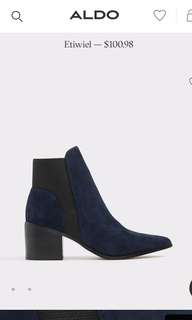Brand new black suede booties