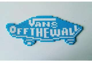 Hama beads design vans of the wall logo