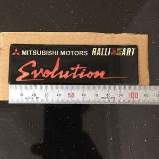 Mitsubishi evolution emblem
