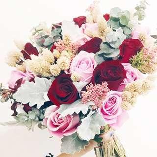 Designer rustic chic bridal bouquet WD131