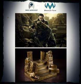 場景模型 阿斯嘉 黃金 殘斷 皇座 Asgard Throne 1:6比例
