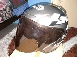Helmet shoei yamaha grey