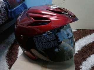 Helmet yakuza red blood