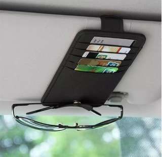 Car Card Holder Sunglass Storage Sun Visor Organizer