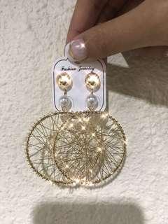 歐美金線耳環