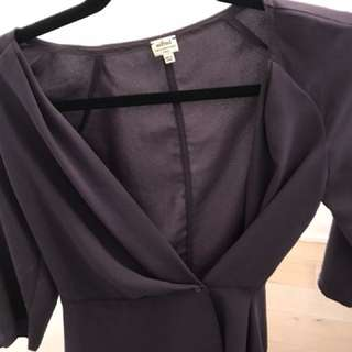 Wilfred aritzia plum wrap top