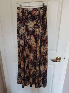 Velvet Maxi Skirt Size S