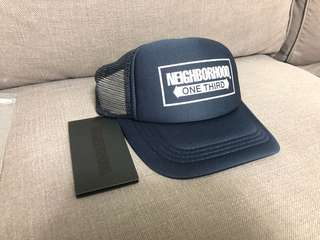 Neighborhood Trucker Cap Navy (Japanese free size) buyers take note size is actually quite small for most men