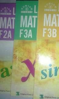 Last minutes mathematics F2A&F3A&F3B