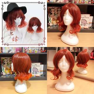 Red Ombre Cosplay Wig