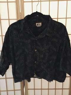 Brandy Melville Cropped Hawaiian Shirt