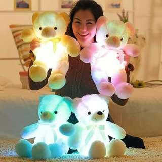 七彩发光泰迪熊