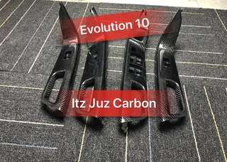 Evolution X Carbon power window panel