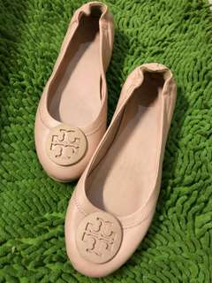 Tory burch minnie travel flat shoes dusty pink size 39