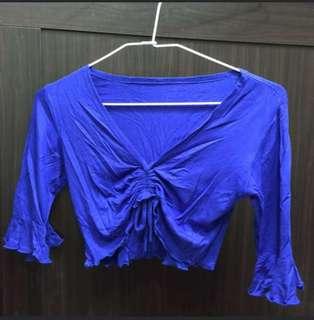 全新寶藍色肚皮舞衣 練習服 棉柔質感超柔軟舒服