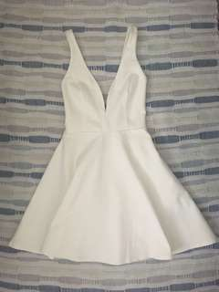 Lulus white skater dress xs