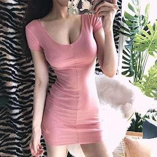 大尺碼 低胸性感連衣裙