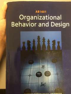 AB1601 Organizational behavior and Design. NBS OB text book