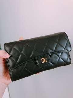 減價 Real Chanel medium Wallet 香奈兒小羊皮銀包