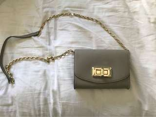 Grey chain cross body